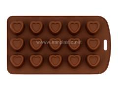قالب شکلات قلب سیلیکونی