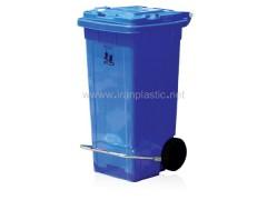مخزن زباله 120 لیتری چرخ دار و پدال دار ماهینی