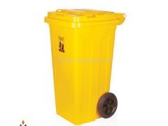 مخزن زباله 120 لیتری چرخ دار ماهینی پلاستیک