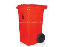 مخزن زباله 100 لیتری چرخ دار ماهینی پلاستیک