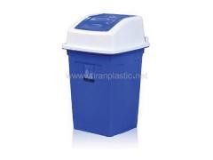مخزن زباله 60 لیتری درب بادبزنی ماهینی