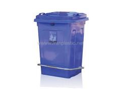 مخزن زباله 40 لیتری پدال دار ماهینی پلاستیک