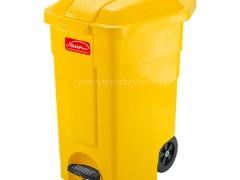 سطل زباله پدال دار و چرخ دار ناصر پلاستیک 5000