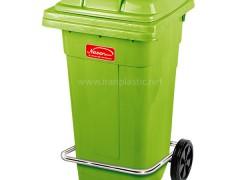 مخزن زباله چرخ دار و پدال دار ناصر پلاستیک 5105