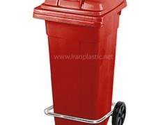 مخزن زباله پدالی چرخ دار ناصر پلاستیک 5125