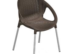 صندلی حصیربافت دسته دار پایه فلزی ناصر پلاستیک 996