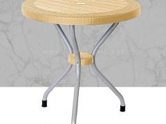 میز پایه فلزی حصیربافت گرد ناصر پلاستیک 422