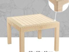 میز پلاستیکی جلو مبلی حصیربافت مربع ناصر پلاستیک 423