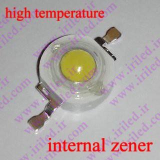 پاور ال ای دی سفید مهتابی-1 الی 3 وات-دارای زنر داخلی-قابلیت لحیم با دستگاه و هویه دستی-high temperature