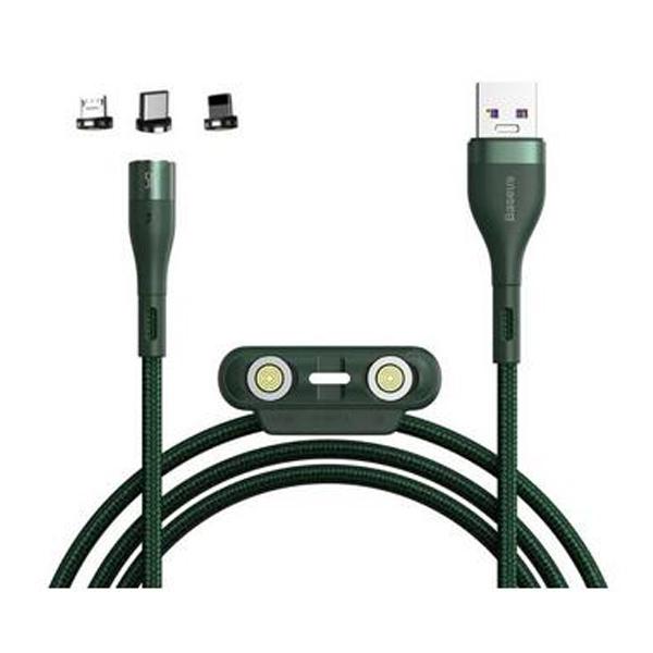 کابل تبدیل USB به USB-C/microUSB/لایتنینگ 1 متری بیسوس CA1T3-AG1