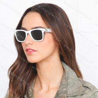 عینک آفتابی ری بن ویفری سفید wayfarer