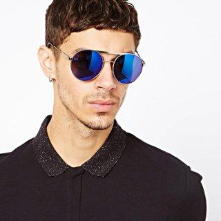 عینک آفتابی گرد آبی Jeepers Peepers Bobby Round