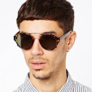 عینک آفتابی فریم پلنگی Spitfire Round