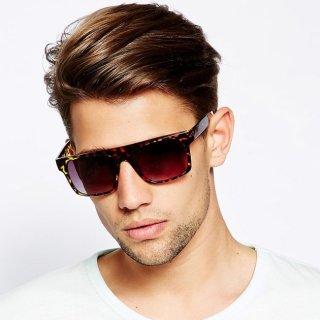 عینک آفتابی فلت پلنگی ASOS Flat Brow