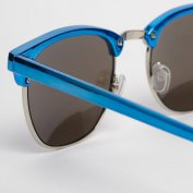 فروش عینک آفتابی آینه ای آبی Mirror Clubmaster