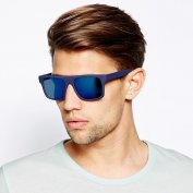 عینک آفتابی ASOS Flat Brow with Colour Mirror Lens