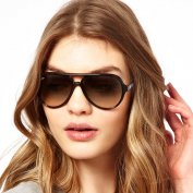 عینک آفتابی  Ray-Ban Black Plastic Aviato