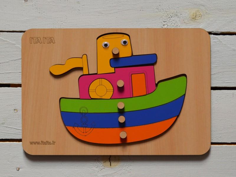 پازل چوبی کشتی