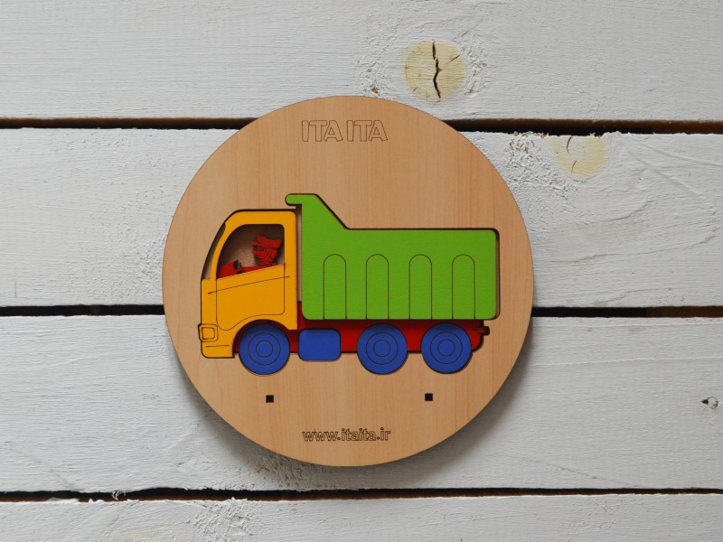 پازل چوبی طبقاتی کامیون