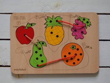 پازل دوخت میوه ها