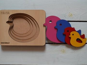 پازل چوبی طبقاتی جوجه