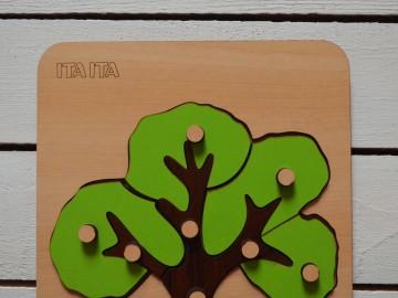 پازل چوبی درخت دکمه دار