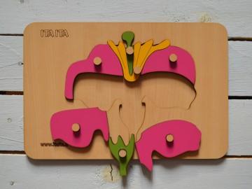 پازل چوبی گل دکمه دار