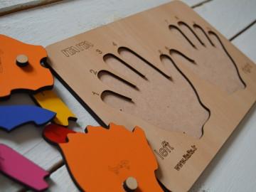 پازل دست چوبی