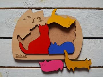 پازل چوبی گربه
