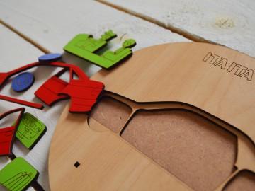پازل چوبی طبقاتی ماشین