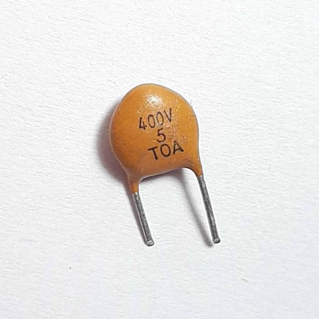 خازن سرامیکی 5pF 400V (بسته 10 عددی)