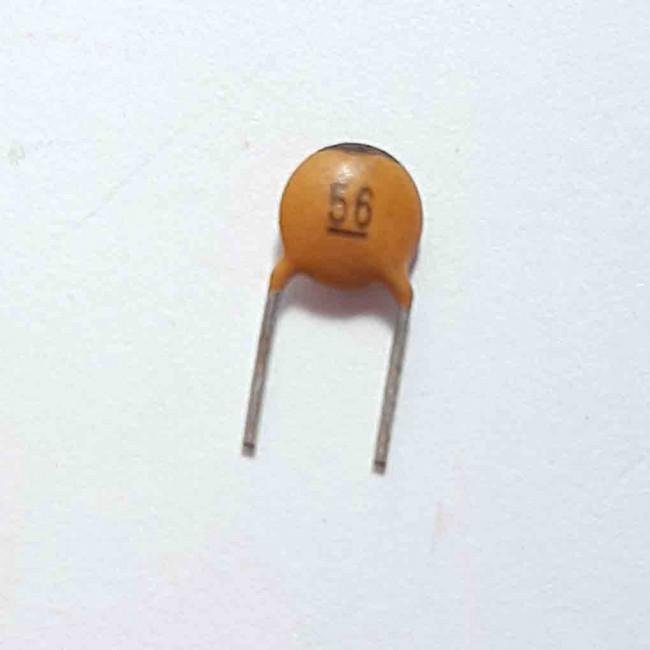 خازن  عدسی سرامیکی 56pF 50V  (بسته 10 عددی)