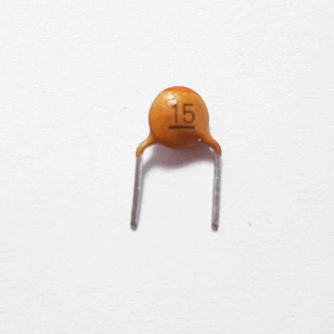 خازن سرامیکی 15pF 50V  (بسته 10 عددی)