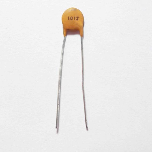 خازن سرامیکی  %5± 100pF 50V  (بسته 10 عددی)