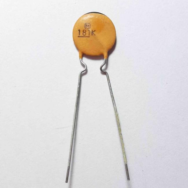 خازن عدسی سرامیکی 180pF 50V ±10% (بسته 10 عددی)
