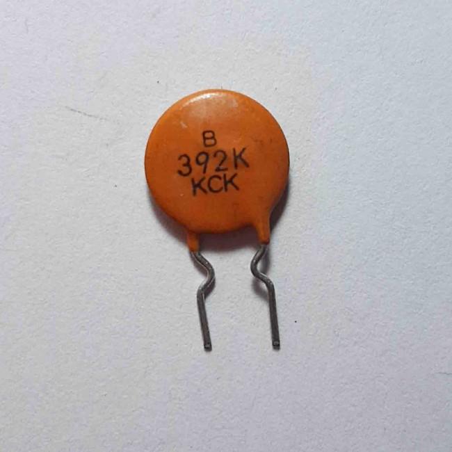 خازن  عدسی سرامیکی %10± 3.9nF 50V  (بسته 10 عددی)