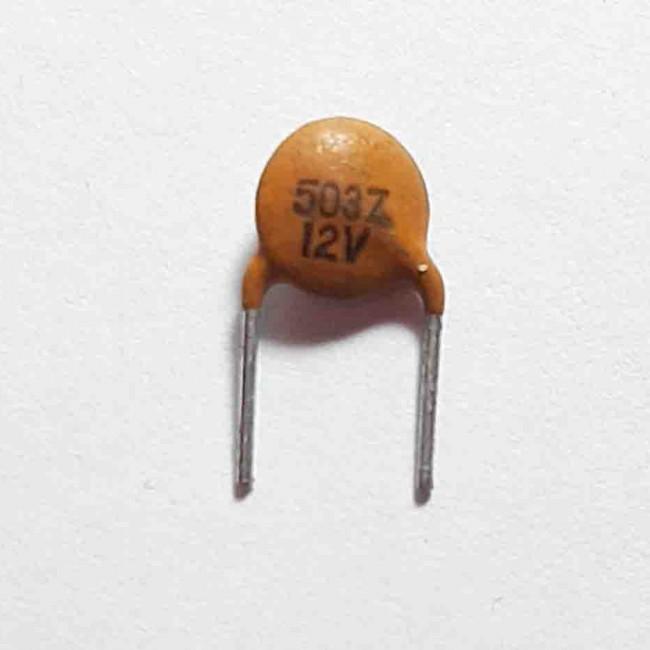 خازن  عدسی سرامیکی  50nF 12V (بسته 10 عددی)