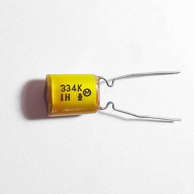 خازن کاغذی 330nF 50V ±10% (بسته 10 عددی)