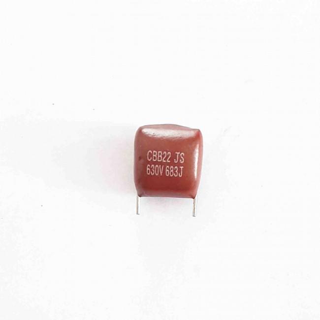 خازن پلی استر 68nF 630V ±5% (بسته 10 عددی)