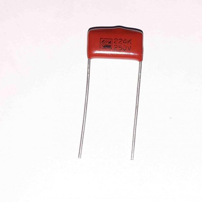 خازن پلی استر 220nF 250V ±10%