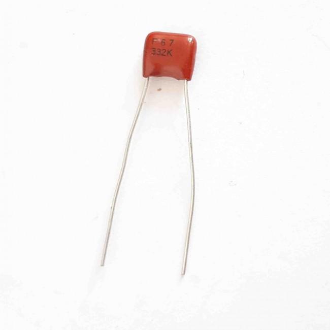 خازن پلی استر %10 ± 3.3nF 50V  (بسته 10 عددی)