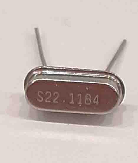 کریستال 22.1184MHZ پایه دار، بسته بندی HC-49U
