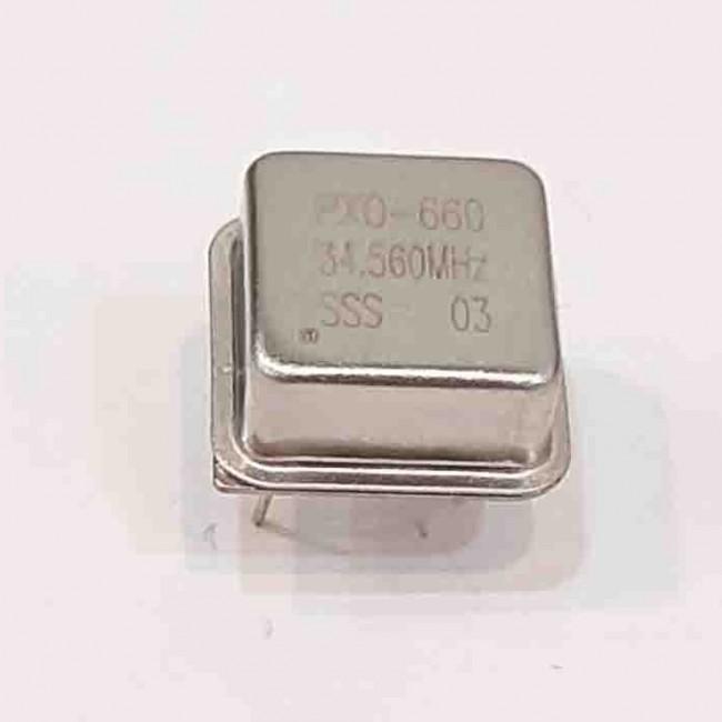 کریستال اسیلاتور  34.560MHZ پایه دار مربعی، بسته بندی DIP8