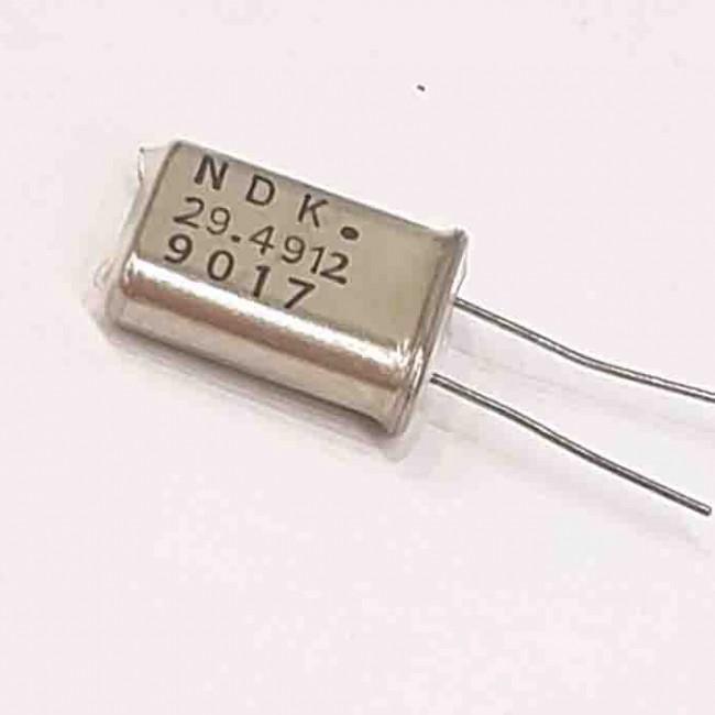 کریستال 29.4912MHZ پایه دار، بسته بندی HC-49U