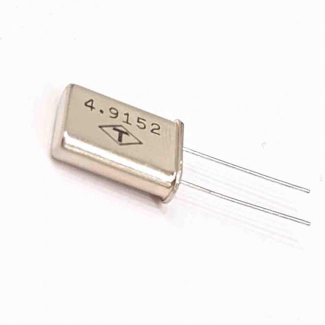 کریستال 4.9152MHZ پایه دار، بسته بندی HC-49U
