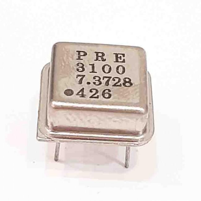 کریستال اسیلاتور  7.3728MHZ پایه دار مربعی، بسته بندی DIP8