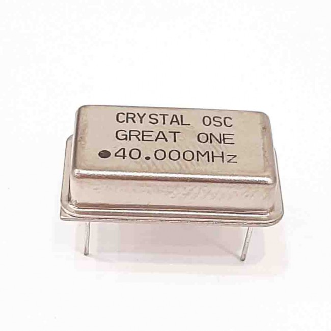 کریستال اسیلاتور 40.000MHZ پایه دار مستطیلی، بسته بندی DIP14