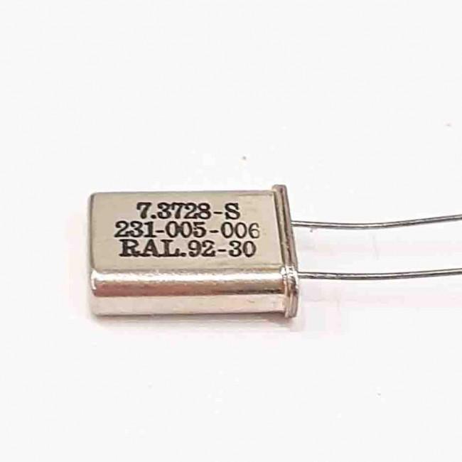 کریستال 7.3728MHZ پایه دار، بسته بندی HC-49U