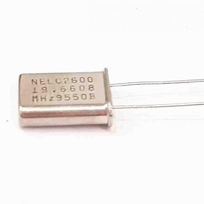 کریستال 19.6608MHZ پایه دار، بسته بندی HC-49U