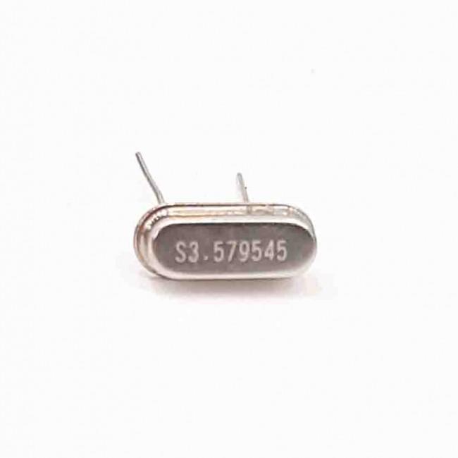 کریستال 3.579545MHZ پایه دار، بسته بندی HC-49U